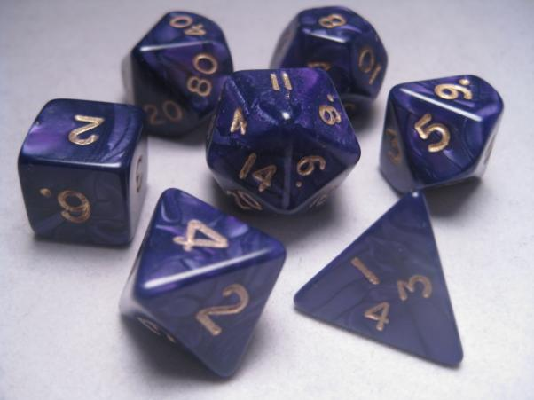 Mystic Keeper Dice: Dragonscale Purple Polyhedral Set (7)
