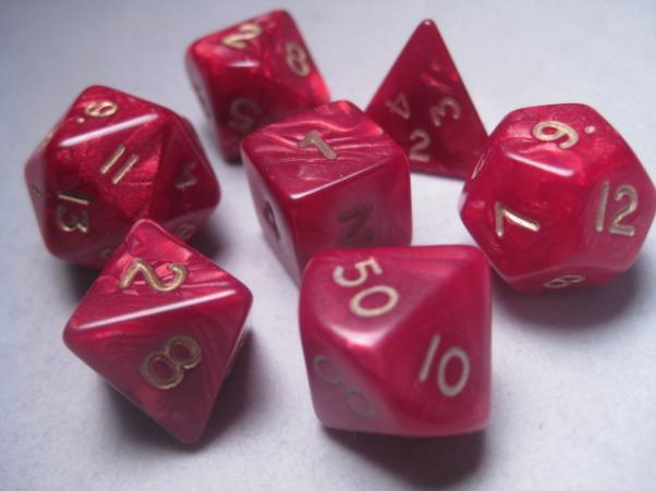 Mystic Keeper Dice: Dragonscale Red Polyhedral Set (7)