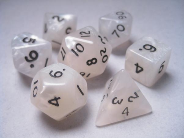 Mystic Keeper Dice: Dragonscale White Polyhedral Set (7)