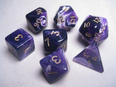 Mystic Keeper Dice: Soulcage Purple Polyhedral Set (7)