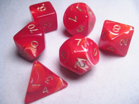 Mystic Keeper Dice: Soulcage Red Polyhedral Set (7)