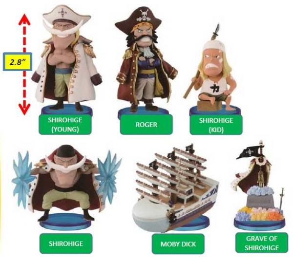Banpresto One Piece 2.8 pouces Moby Dick World Collectible Figure,