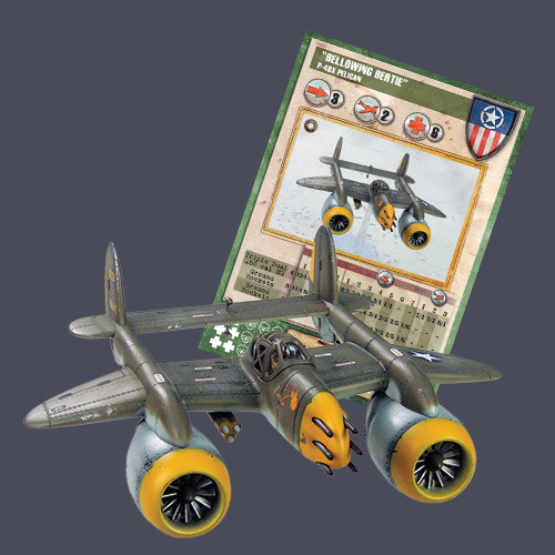 "Dust Tactics Premium Edition: Allied: P-48 Pelican Thunderstorm  ""Bellowing Bertie"""