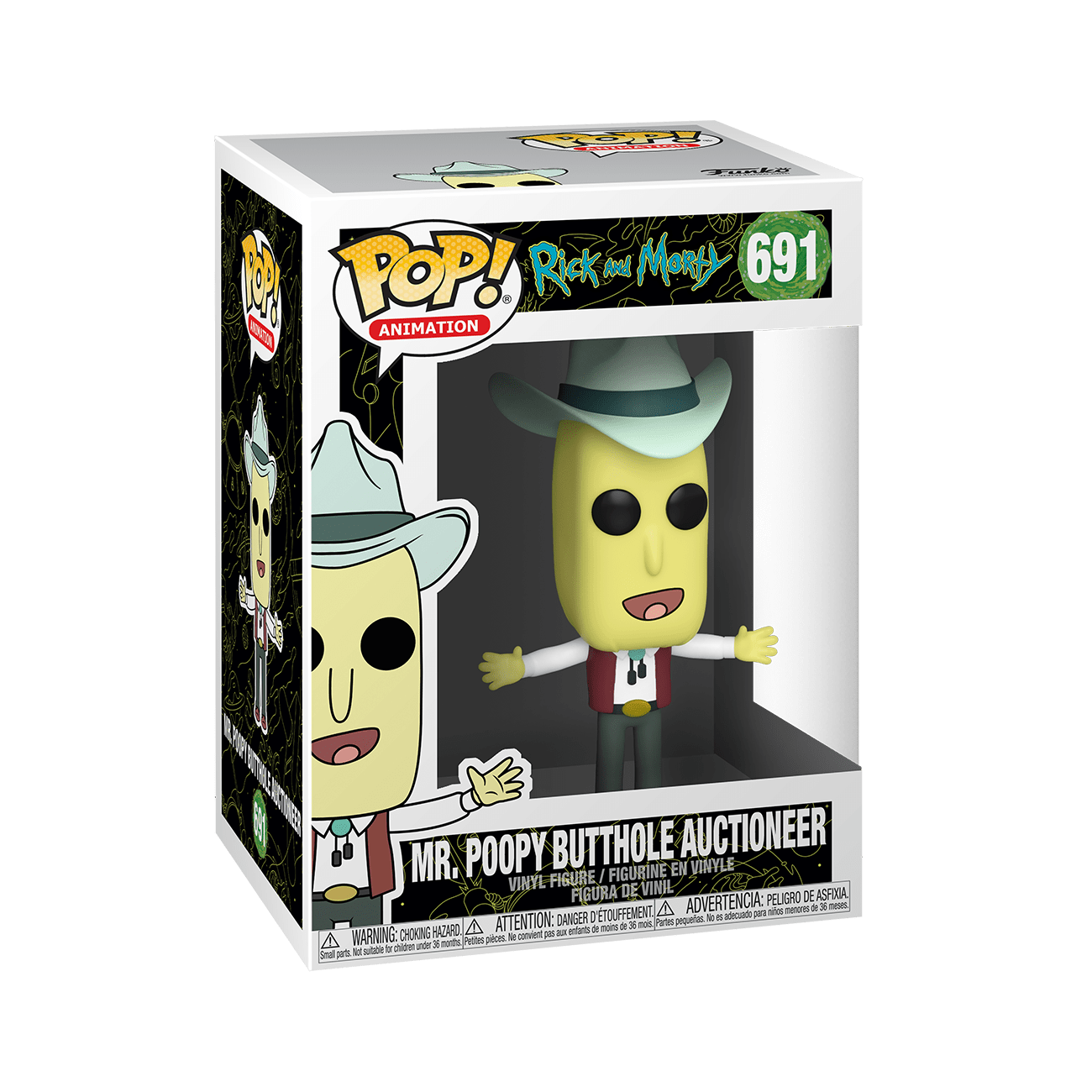 POP! Animation: Rick and Morty - Mr. Poopy Butthole Auctioneer