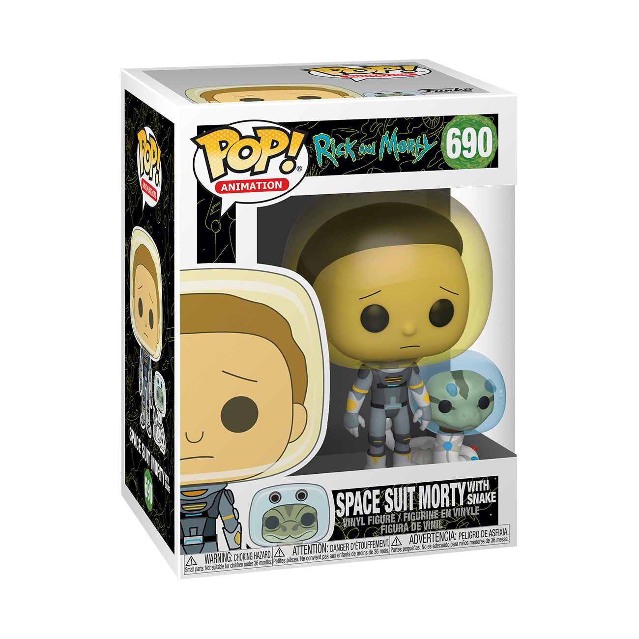 POP! Animation: Rick and Morty - Space Suit Morty with Snake