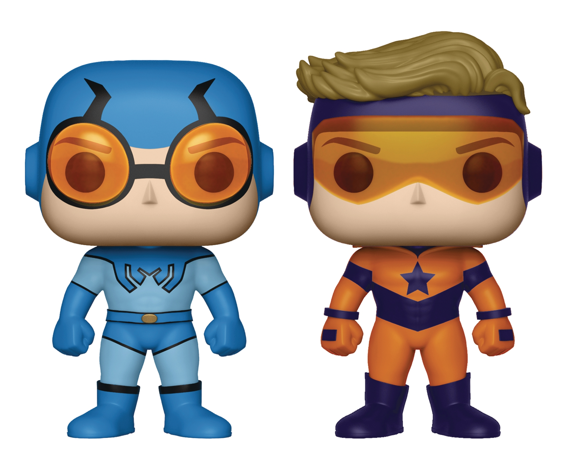 POP! Heroes 2Pack: Booster Gold & Blue Beetle [PX Exclusive- Metallic]