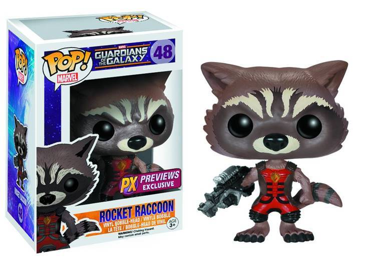 POP! Marvel 048: Guardians of the Galaxy: Rocket Raccoon (PX Previews Exclusive)
