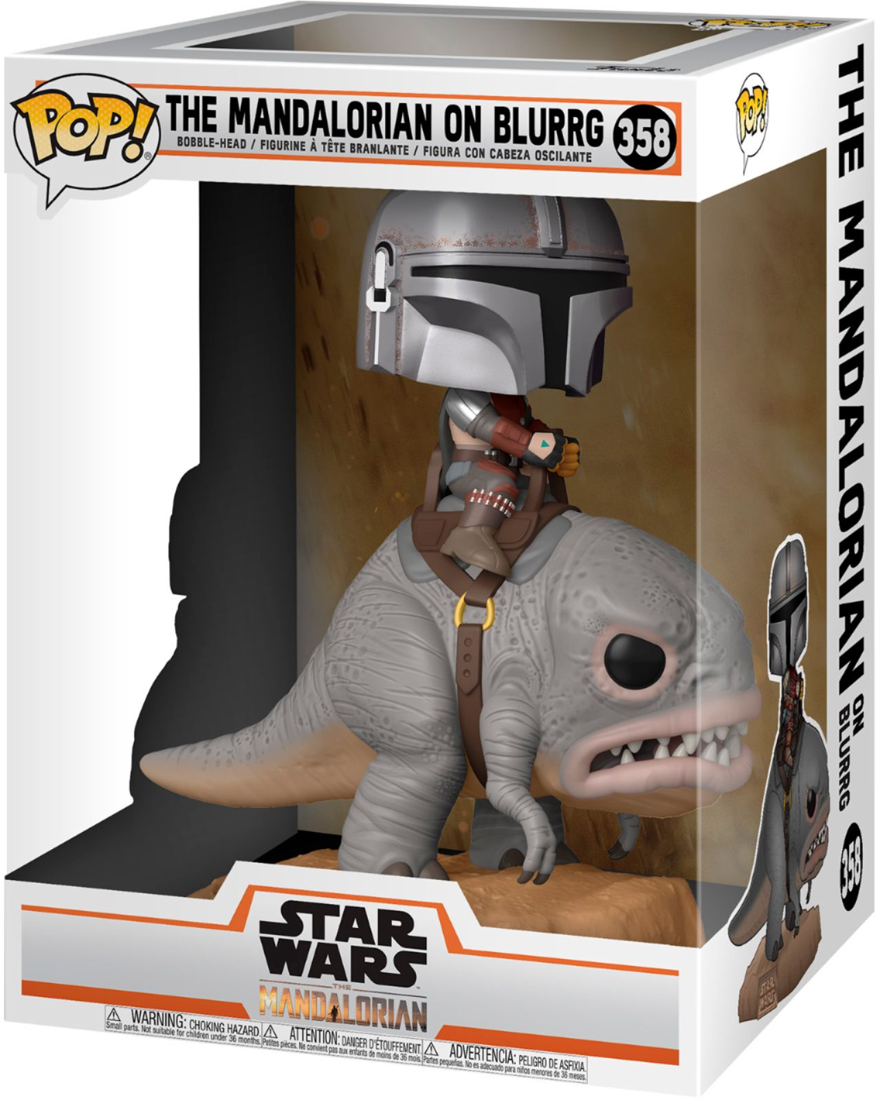 POP! Star Wars 358: Mandalorian - The Mandalorian on Blurrg