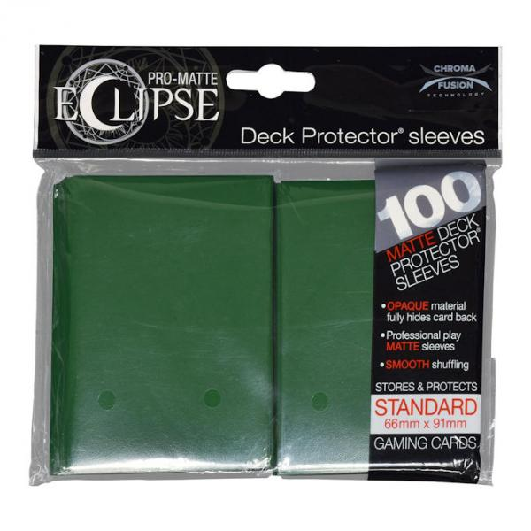 PRO-Matte Eclipse Standard Deck Protector Sleeves: Forest Green
