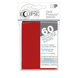 PRO-Matte Eclipse Standard Japanese Deck Protector Sleeves: Apple Red