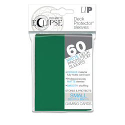 PRO-Matte Eclipse Standard Japanese Deck Protector Sleeves: Forest Green