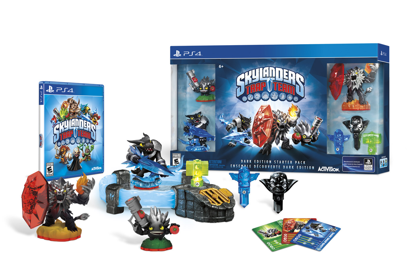 PS4: Skylanders Trap Team - Dark Edition Starter