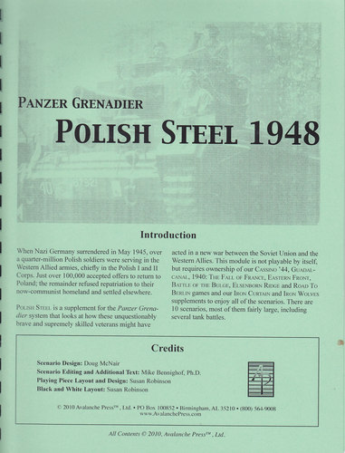 Panzer Grenadier: Polish Steel