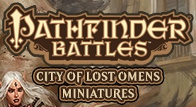 Pathfinder Battles: City of Lost Omens- Red/ Black Dragon