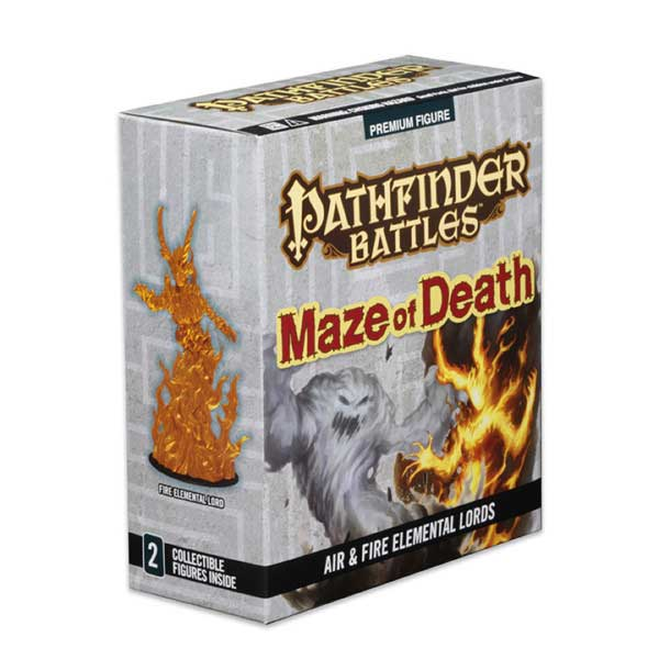 Pathfinder Battles: Maze Of Death- Fire Elemental Lord and Air Elemental Lord