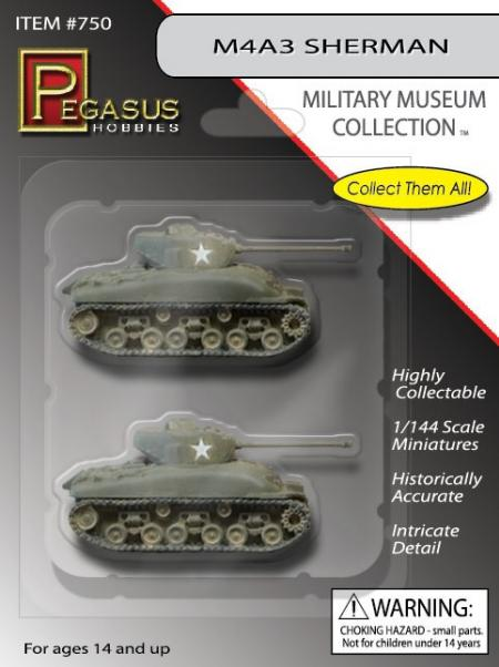 Pegasus Hobbies WWII 1/144: M4A3 Sherman
