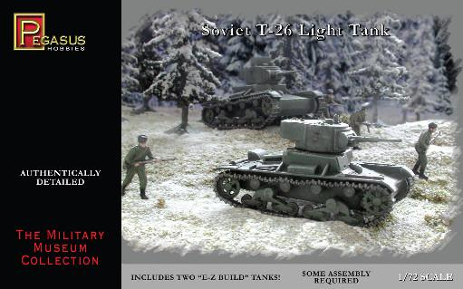 Pegasus Hobbies WWII 1/72: Soviet T-26 Tanks