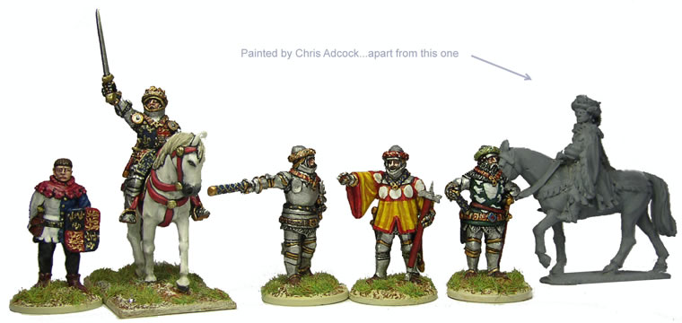 Perry: 28mm Agincourt to Orleans 1415-1429: British Henry V (Mounted) & Command