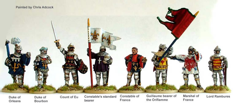 Perry: 28mm Agincourt to Orleans 1415-1429: French High Command (Foot)