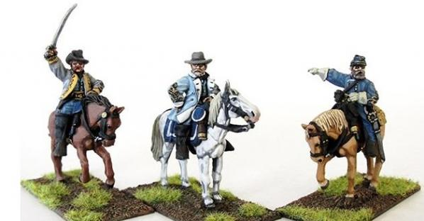 Perry: 28mm American Civil War: Confederate Generals (Mounted)