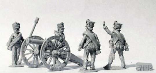 Perry: 28mm Napoleonic: Foot Artillery Firing 6 Pounder
