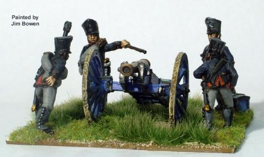Perry: 28mm Napoleonic: (Prussian) Foot Artillery (Firing)