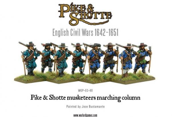 Pike & Shotte: English Civil Wars 1642-1651: Musketeers Marching Column
