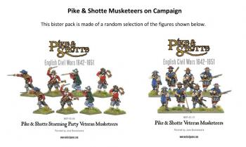 Pike & Shotte: English Civil Wars 1642-1651: Musketeers on Campaign