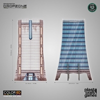 Plast Craft Games: Dropzone Commander Terrain: Office Building
