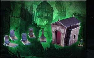 Plast Craft Games: Malifaux Terrain ColorED: Graveyard Set