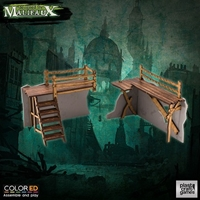 Plast Craft Games: Malifaux Terrain ColorED: OLD TOWN BARRICADES