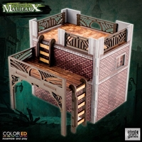 Plast Craft Games: Malifaux Terrain ColorED: OLD TOWN BUILDING