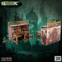 Plast Craft Games: Malifaux Terrain ColorED: QUARANTINE ZONE- OUTER WALLS