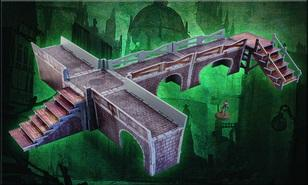 Plast Craft Games: Malifaux Terrain ColorED: Sewer Walkway Set