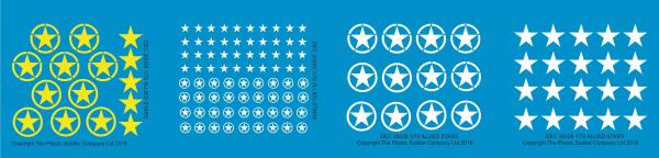 Plastic Soldier Company: 1/72 Allied: Stars Decal Packs