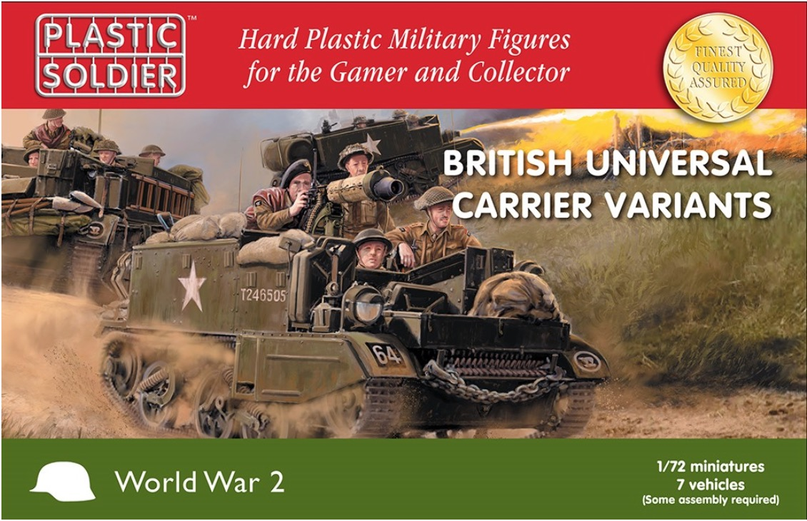 Plastic Soldier Company: 1/72 British: Universal Carrier Variants