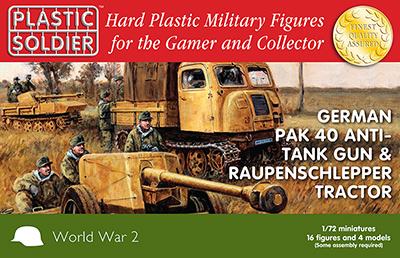 Plastic Soldier Company: 1/72 German: German Pak 40 & Raupenschlepper