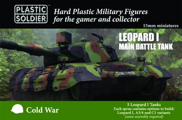 Plastic Soldier Company: 15mm Allied: Leopard 1 Main Battle Tank