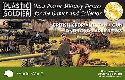 Plastic Soldier Company: 15mm British: 6 PDR Anti Tank Gun and Loyd Carrier