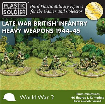 Plastic Soldier Company: 15mm British: Late War British Infantry Heavy Weapons 1944-45