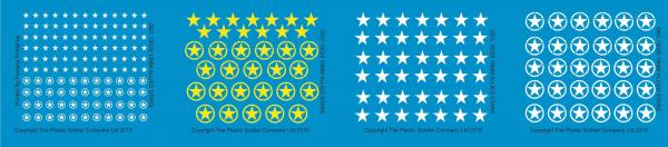 Plastic Soldier Company: 15mm Decals Allied Stars