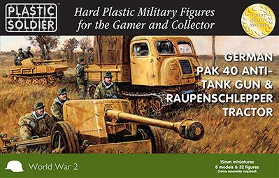 Plastic Soldier Company: 15mm German: Pak 40 with Raupenschlepper Tractor
