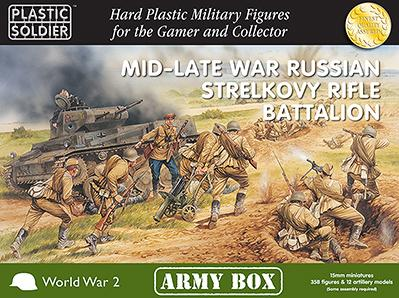 Plastic Soldier Company: 15mm Russian: Mid-Late War Russian Strelkovy Rifle Battalion