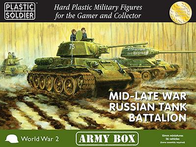 Plastic Soldier Company: 15mm Russian: Mid-Late War Russian Tank Battalion
