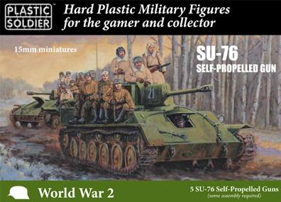 Plastic Soldier Company: 15mm Russian: SU76 Self Propelled Gun