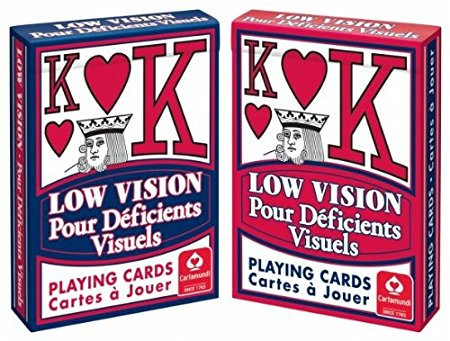 Playing Cards: Low Vision: Blue Backed
