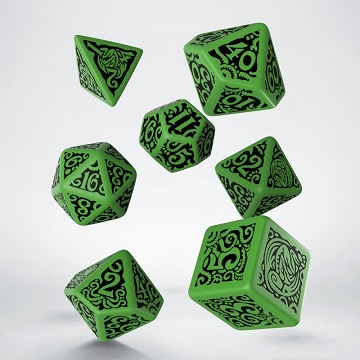 Q-Workshop: 7 Dice Set- Call Of Cthulhu: Outer Gods - Cthulhu