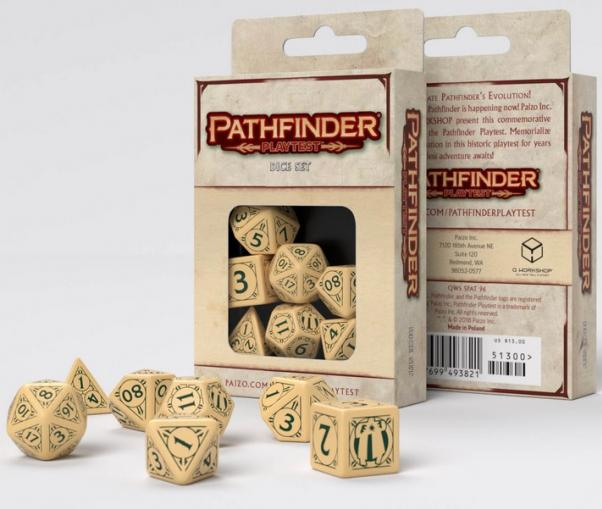 Q-Workshop: 7 Dice Set- Pathfinder: Playtest
