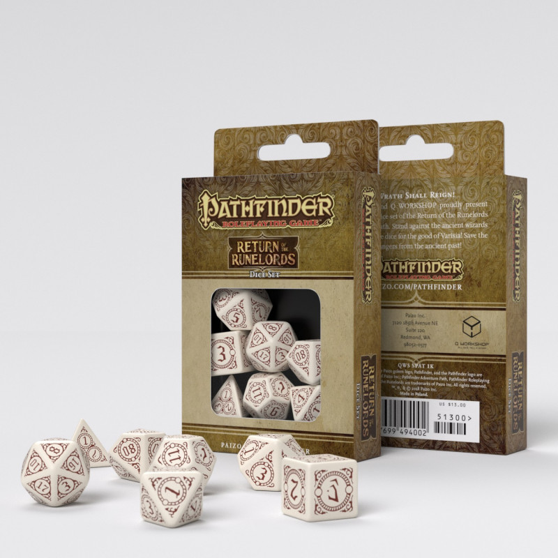 Q-Workshop: Exotic Dice 7 Dice Set- Pathfinder: Return of the Runelords