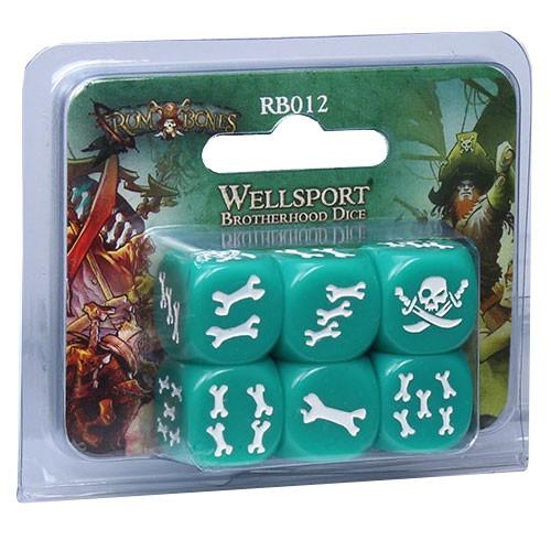 RUM & BONES: Wellsport Brotherhood Dice [SALE]